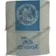 Dragon Logo JC Sports Towel - White with Blue Stripe