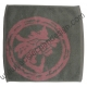 Dragon Logo Face Cloth - Pink on Grey